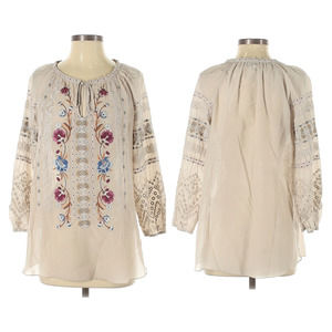 Johnny Was 3/4 Sleeve Blouse XS
